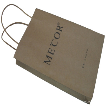 Kraft Paper Shopping Bag with The Paper Rope Handle