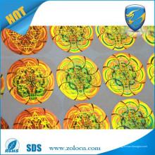 Etiquetas engomadas anti del holograma / etiqueta engomada del holograma del fabricante / del holograma 3d