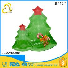 vaisselle en gros décorer en plastique servant de plateau d'arbre de Noël