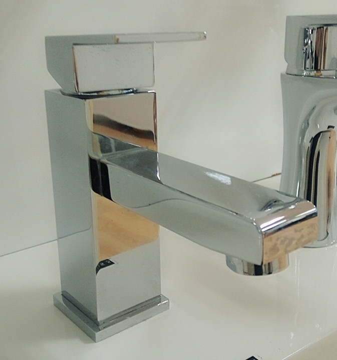 chrome finish faucet
