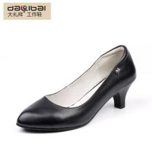Sapatas formais de couro reais das mulheres elegantes sapatos de couro na moda europeus