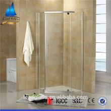 Vidrio templado de construcción de puerta de ducha sin marco transparente de 6 mm