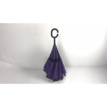 c handle reverse double layer inverted umbrella