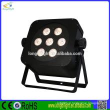 7 x 3W tri-color painel LED RGB