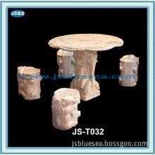 Cultured Cheap Outdoor Antique Round Marble Dining Set
