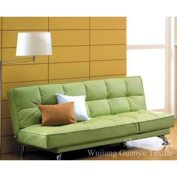 Couro 100% poliéster da decoração da camurça com apoio para o sofá