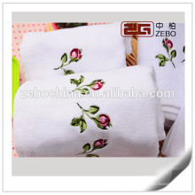 Hot Sale Embroidery Design White Decorative Hand Towels