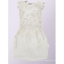 High Quality flower girl dress ivory lovely lace flower girl dress for wedding Children Girl Dress ED743