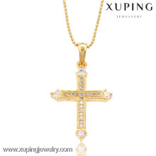 32475-Xuping Jesus pendant necklace jewelry fashion with cross