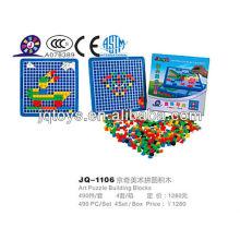 JQ1106 Kids Plastic Interlocking Art Puzzle Desktop Toy