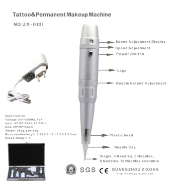 High Quality Digital Power Tattoo Permanent Makeup Machine (ZX-0101)