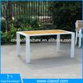 Outdoor teak wood furniture rectangle dining table and chair