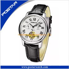 Reloj de pulsera de cuero con reloj automático