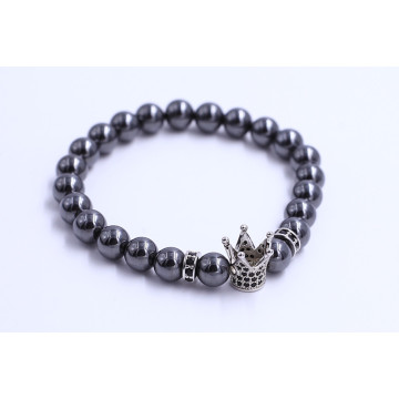 China for Retro Style Bead Bracelet Stainless Steel Mens Crown Charm Beads Bracelets supply to Netherlands Factories