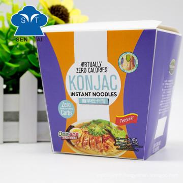 Vente en gros de nouilles Konjac instantanées sans gluten 100% naturelles sans gluten