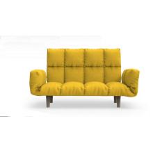 Chaise de canapé en tissu gris moderne en bois de style européen