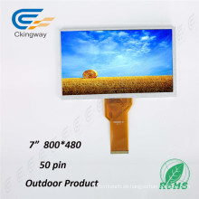 "7 ""Resolución 800 * 480 TFT LCD Panel"
