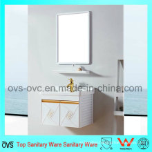 Promotional Wall Installed Wash Basin Aluminum Bathroom Cabinet