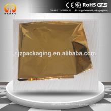 Золотистая металлизированная пленка для бумаги