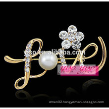 lover letter fashion crystal alloy brooch