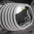 Miroirs de salle de bains de concepteur, miroir de cadre de surface solide