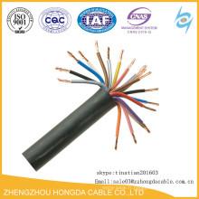 Câble de contrôle isolé par plastique de noyau de cuivre du câble KVV22 de KVV