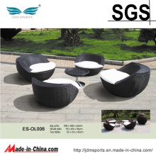 Outdoor Brown Wicker Garden Rattan 4PCS Sofa Set (ES-OL006)