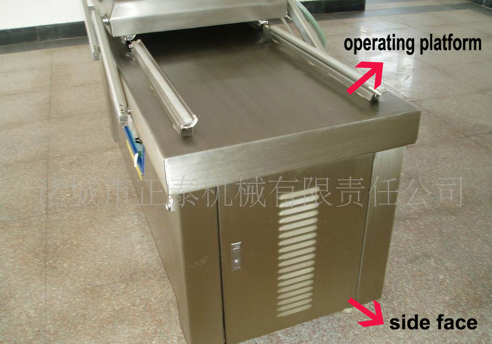 Inside Smoke Type Platform Working Double Chamber Packing Machine