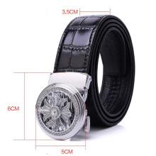 2020 Fashion Automatic Buckle crocodile Genuine Leather Alloy Belt for men