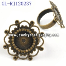 High quality copper rings base jewelry ring base