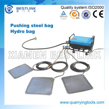 China Patent Pushing Device Steel Hydro Bag for Granite Block
