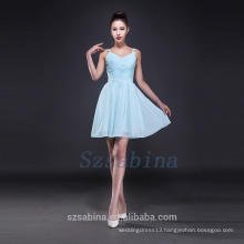 2017 simple bridesmaid dress chiffon short dress summer fashional evening dress