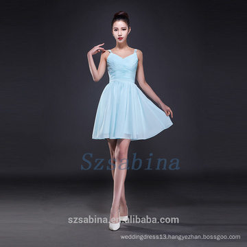 2017 simple bridesmaid dress chiffon short dress summer fashional evening dress