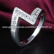 Wholesale Shiny Gemstone Jewelry, Made of Copper and Zircon, OEM Orders are Welcome