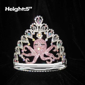 Crystal Sea Octopus Custom Pageant Crown