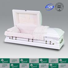 Empresas de caixão China LUXES Thearts Oversize caixão branco projetado caixão