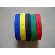 Debossed Logo Rubber Wristband