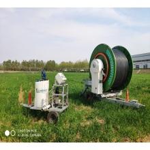 irrigador de carrete de manguera de fertilización y agua