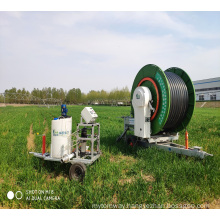 fertilizing and water hose reel irrigator