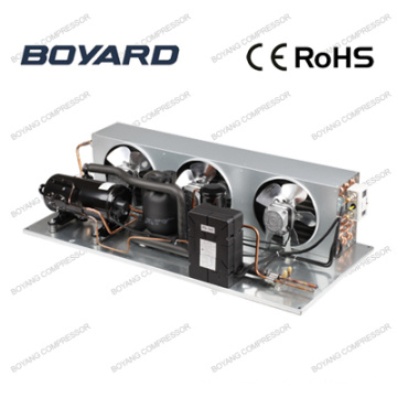 air cooled condenser for refrigeration with refrigeration kompressor condensing unit in commercial freezing coldstorage showcase