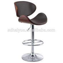 2017 новый черный современный Регулируемый гидравлический поворотный барные стулья низкой спинкой стул акцента, в ресторане и дома, орех, матовое Черное