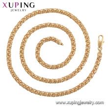 44883 venda quente não stone18K banhado a ouro colar de corrente xuping jóias