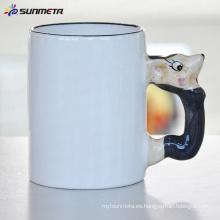Sublimación Animal taza de ratón en blanco