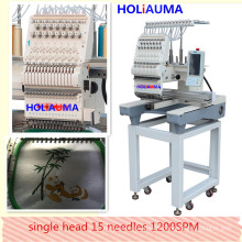 HOLIAUMA Multi- Function Single Head Computer Control Embroidery Machine With 15 Colors