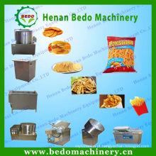 equipamento usado largo das microplaquetas de batata / máquina elétrica do cortador das microplaquetas de batata for sale