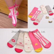 Colorful Girl Cotton Socks Made with Good Quality Cotton