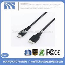 1M 10Gbps SuperSpeed USB 3.1 Тип C к USB 3.0 Micro B Интерфейс данных Мужской соединительный кабель Зарядная линия для Macbook