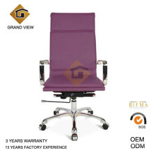 Chaise visiteur cuir violet avec accoudoir (GV-OC-H305)