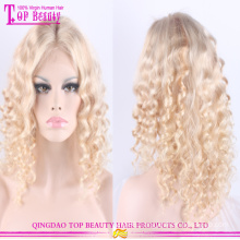 China wholesale high end blonde human hair full lace wig unprocessed virgin brazilian hair blonde wig