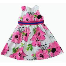 Vestido de flores en verano para la ropa de niños de venta caliente (SQD-120)
